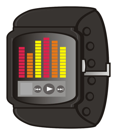 display: music on the display of smart watch