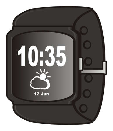 display: weather on the display of smart watch