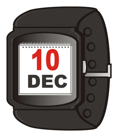display: smart watch with calendar on the display
