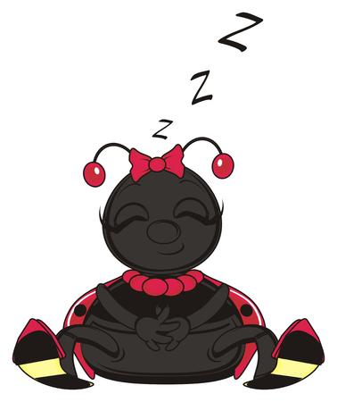 ladybug: ladybug close her eyes