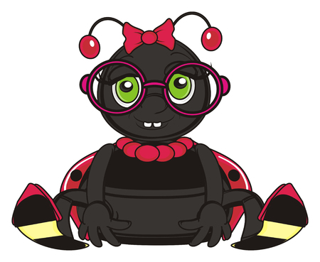 toothy: toothy ladybug in glasses