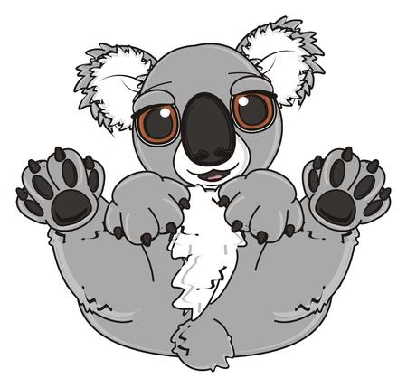 lying: smiling koala lying on his back