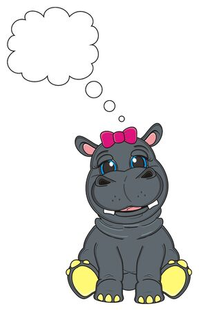 hippo girl with clean footnote