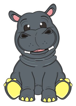 hapy: hapy hippo with little eyes