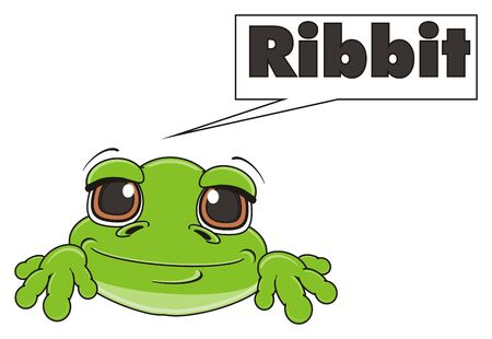 green frog say ribbit