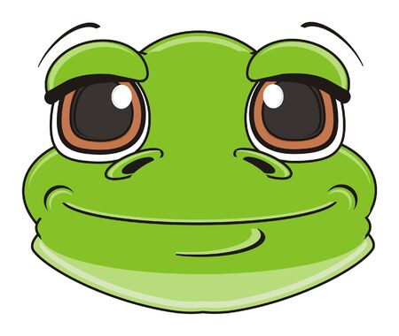 muzzle of happy frog