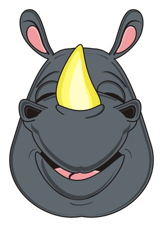 snout: snout of happy rhinoceros Stock Photo