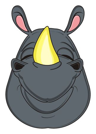 snout: happy snout of rhinoceros