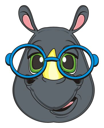 snout: snout of rhinoceros in glasses