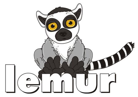 lemur: lemur with white word lemur