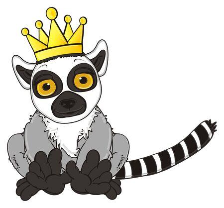 lemur: lemur in golden crown sit Stock Photo