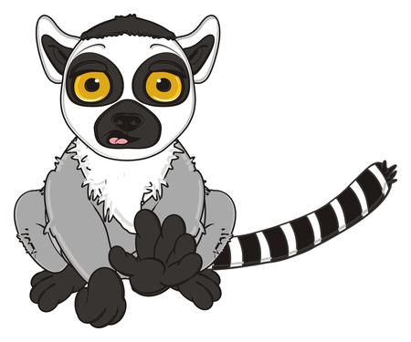 lemur: surprise lemur sit