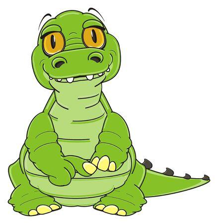 shy: shy green crocodile