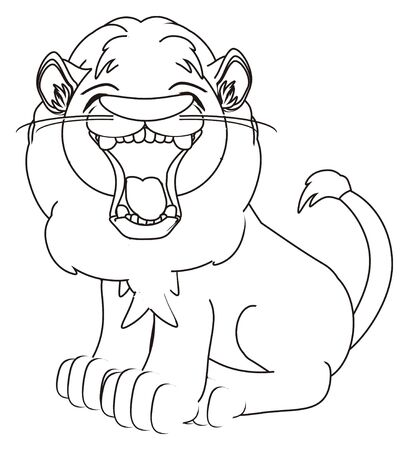 coloring evil lion sit