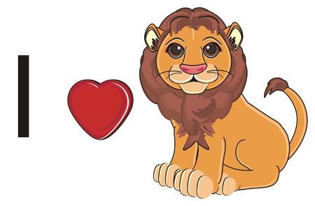 i love lion Stock Photo