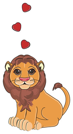 lion in love sit Stock Photo