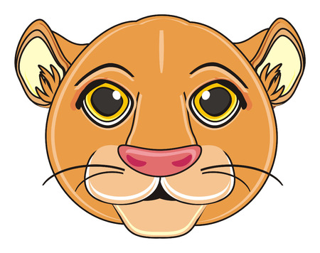 snout: snout of lion girl Stock Photo
