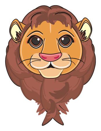 head of lion Stock Photo