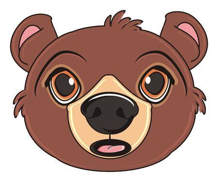 surprise face of brown bear