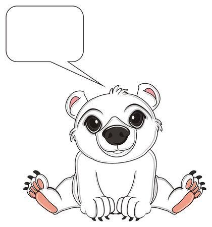 floe: white bear sit near the clean callout