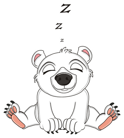 white bear sleep and letters z fly Stock Photo