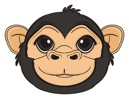 snout: smiling snout of monkey Stock Photo