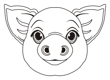snout: coloring snout of pig