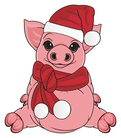 pig in new years clothes