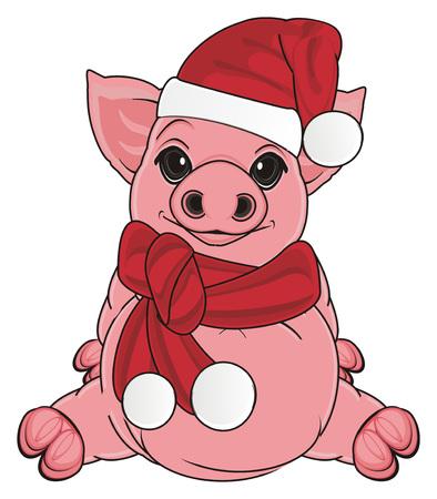 varken in nieuwjaarskleding
