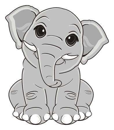 elephant sit and watch