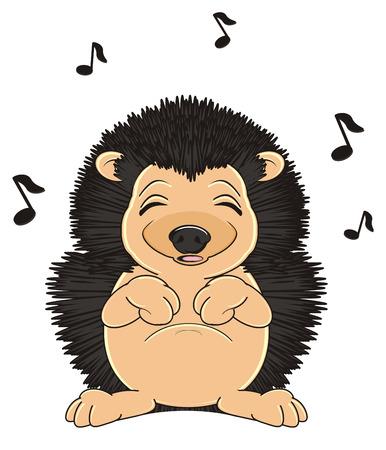 sleeping hedgehog stand and sing