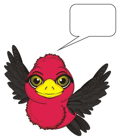 bird fly: bird fly and thinking Stock Photo