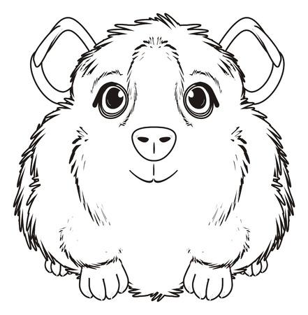 Colorier cochon d'inde assis Banque d'images - 72889883