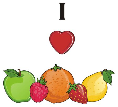 raspberry pink: i love fruits Stock Photo