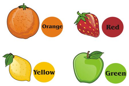 rounds: fruits and rounds with colors Stock Photo