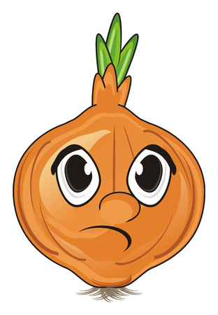 un cook: sad face of onion