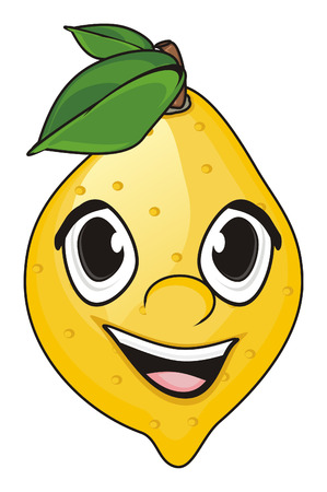 pulp: smiling face of lemon Stock Photo