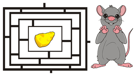 squeak: rat with labyrinth and cheese