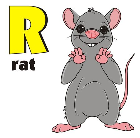 squeak: rat stand with name rat and sign r