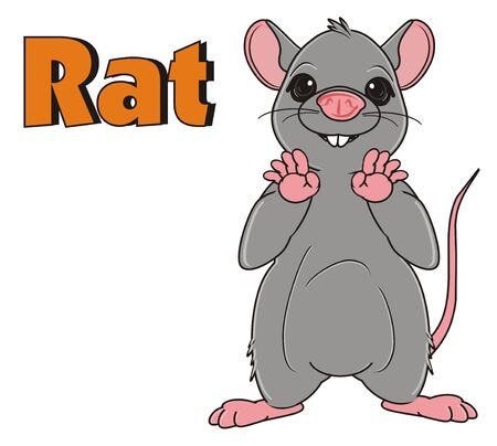 the wrecker: rat stand near the word rat Stock Photo