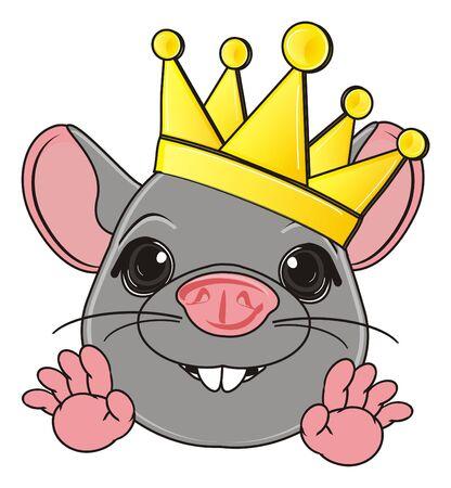 squeak: muzzle of rat in golden crown