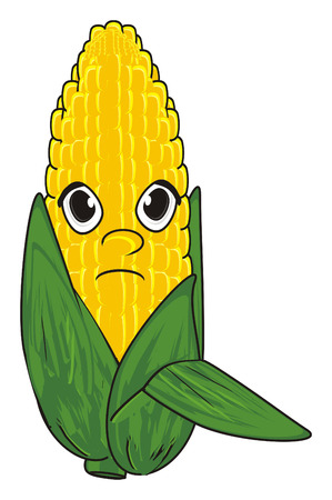 un cook: sad face of corn Stock Photo