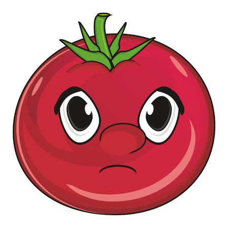 un cook: sad face of tomato