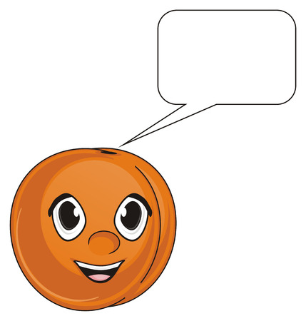 happy face of apricot with clean callout