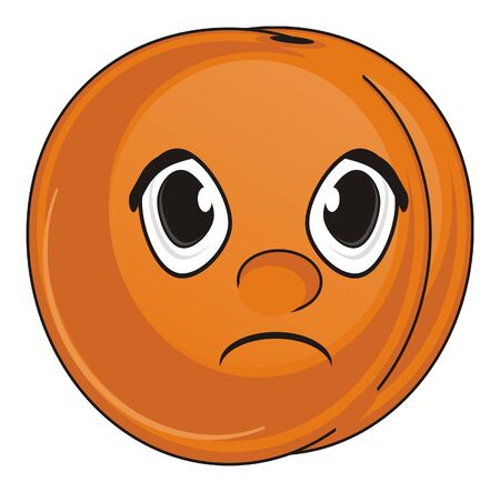 un cook: sad face of apricot