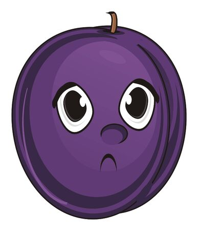 un cook: sad face of plum Stock Photo