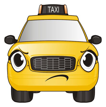 Evil face of taxi