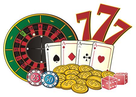 Plays symbols of Las Vegas