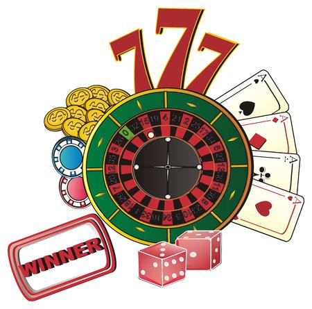 Colored symbols of Casino