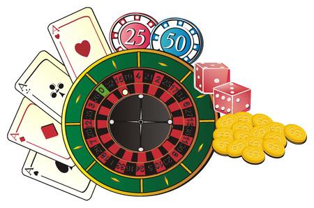 Colored symbols of Las Vegas Stock Photo